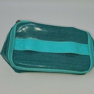 Clinique Makeup Cosmetics Bag Teal